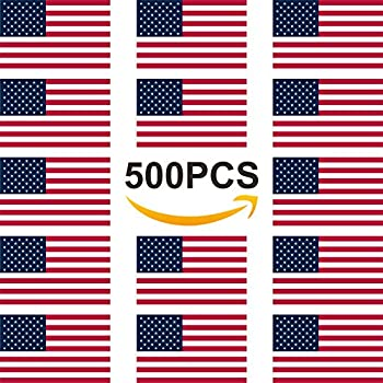 American flag stickers patriotic sticker roll of stickers 2 width usa stickers 500 packs