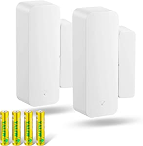 Seculex WiFi Door Sensor Alarm 2 Pack, Window Door Open Phone Alert, Compatible with Amazon Alexa Google Assistant, Wireless Remote Window Alarm for Home Security Kids Safety, Battery Included