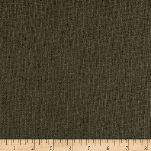 Cotton Suiting Blend - Quality Linen 0530413 European Linen Blend Olive Fabric by The Yard