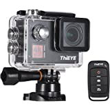 ThiEYE T5 Edge 4K WiFi Action Sports Camera 14MP 1080P Voice Remote Control 6-axis EIS Stabilization 2.0inch IPS Distortion Correction 60m Waterproof Support Time-Lapse Fast/Slow Motion
