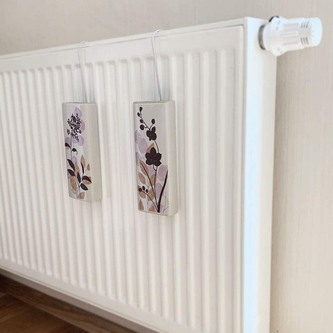 Set di 4 umidificatori in ceramica Ikea Bana a1662 da fissare al termosifone