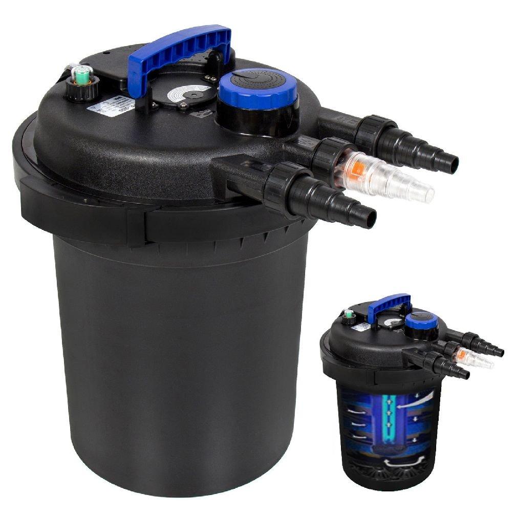 4000 Gallon Pressure Bio Filter w/ 13W UV Sterilizer Light Koi by Best Choice Products