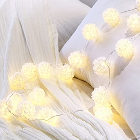Amazon arestore white flower string lights 3meter 20 bulbs arestore white flower string lights3meter 20 bulbs battery operated warm white fairy lights for mightylinksfo Image collections