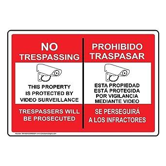 Private Property No Soliciting No Trespassing Under Surveillance Crime Deterrent