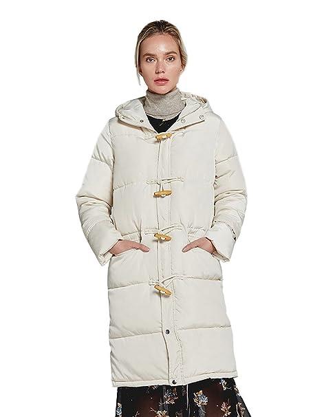 417ebd63149a9 Manteau Imperméable Duvet Hiver Long en Noir Pink Ivory avec Capuche Hiver  Longue Veste