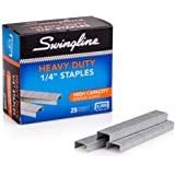 "Swingline Staples, Heavy Duty, 1/4"" Length, 25 Sheet Capacity, 100/Strip, 5000/Box, 1 Pack (79394)"