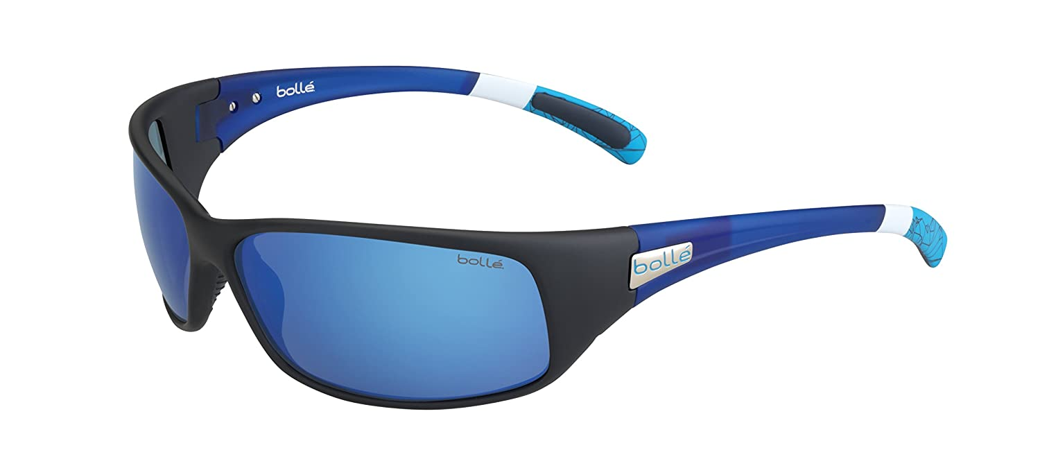 Matt Black//Blue Bolle Serengeti Eyewear 12436 Bolle Recoil Polarized Offshore Blue Oleo AR