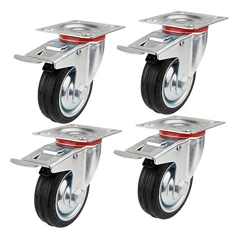 YAOBLUESEA Ruedas de Transporte de transporte Ruedas cargas pesadas rollos de muebles (4 x volantes