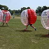 AmazingsportsTM Bubble Soccer Balls Suit For Adults Cheap dia 5' 1.5m Red And Clear PVC Bumper Balls(1.2m 1.7m available)