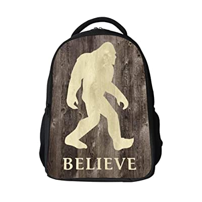 SARA NELL School Bags for Kids Elementary Believe Bigfoot In Wooden Floor School Backpacks Bookbags for Children | Kids' Backpacks