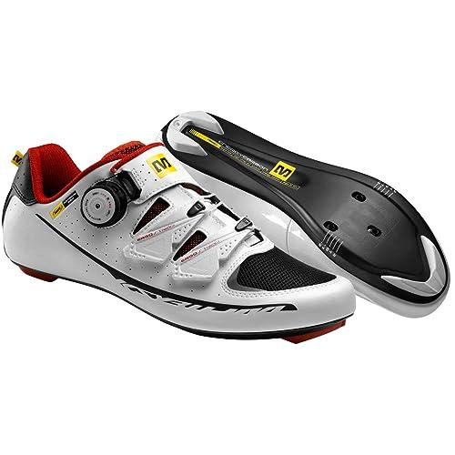 6c3e3722de64f7 Amazon.com: Mavic 2015 Men's Ksyrium Pro Road Bike Cycling Shoes - 367070 ( White/Black/Red - 9.5): Sports & Outdoors