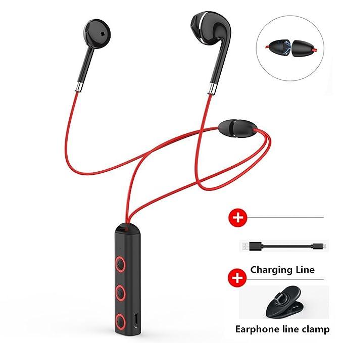 Auriculares inalámbricos con Bluetooth, auriculares inalámbricos, auriculares estéreo con cancelación de ruido, auriculares inalámbricos, deportivos, ...