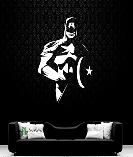 nkfrjz Marvel Superhero Tatuajes de Pared Capitán s América Vinilo ...