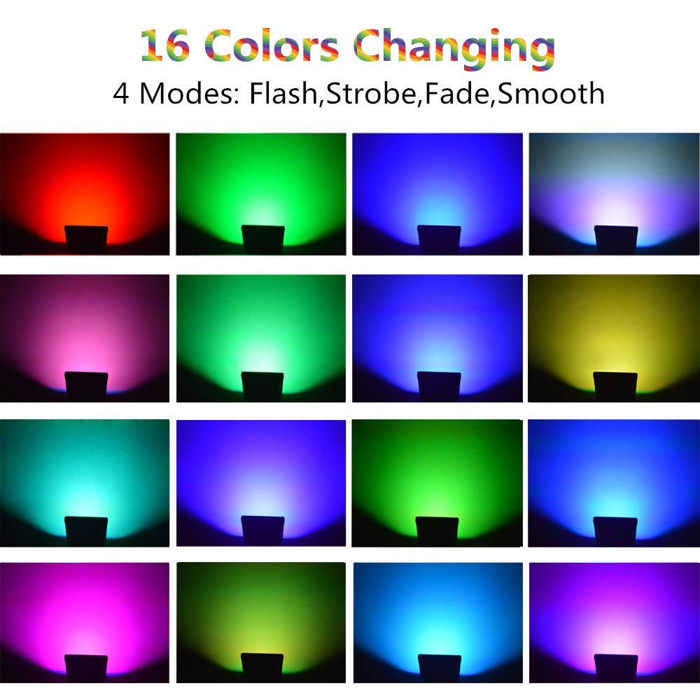 glw led rgb flood light 20w outdoor color changing lights with