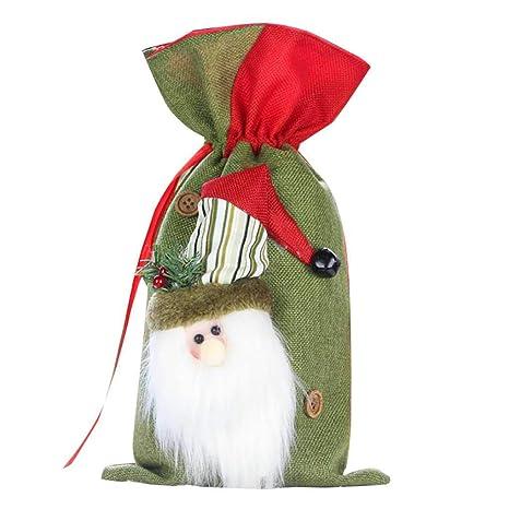 LafyHo Navidad Bolsas Grandes de Regalo con cordón 3D Santa ...