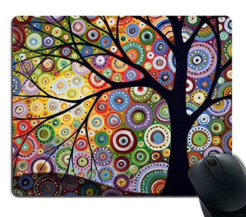 Smooffly Tree of Life Mouse pads 9.5in X 7.9in Personality Desings Gaming Mouse Pad Style