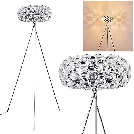 Lámpara de pie Abisko metal cromo - para dormitorio - salón ...