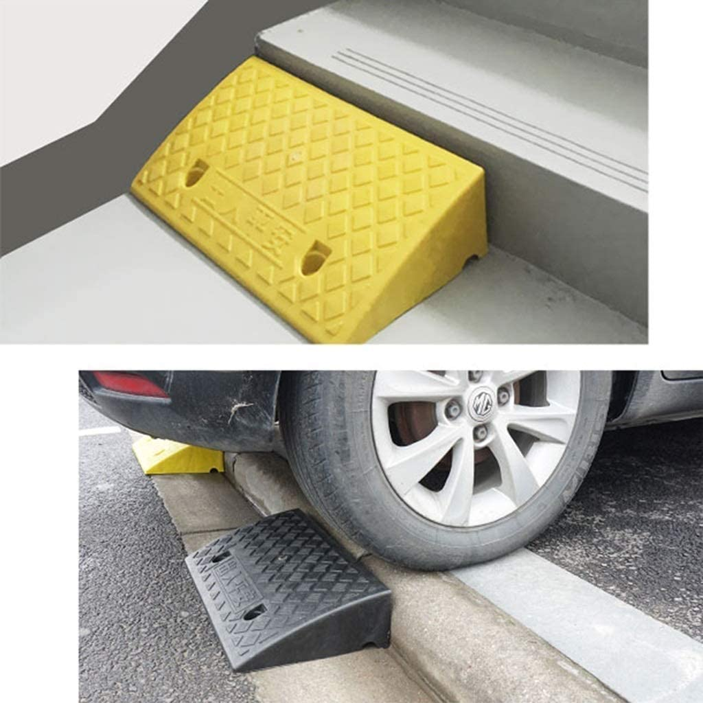 Size : 502713CM Wheelchair Ramps Threshold Ramps Garage Ramps Outdoor Vehicle Ramps Factory Ramps Bicycle Ramps DJSMxpd Curb Ramps Yellow Non-Slip Ramps