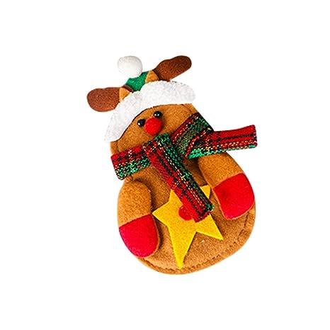 Cubertería de Plata Alces Ciervos Navidad Sujeción Decoración Mesa de Fiesta 15x7cm