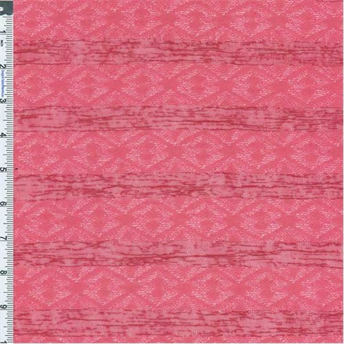 Raspberry Sherbet Stripe Jacquard Knit, Fabric By the Yard
