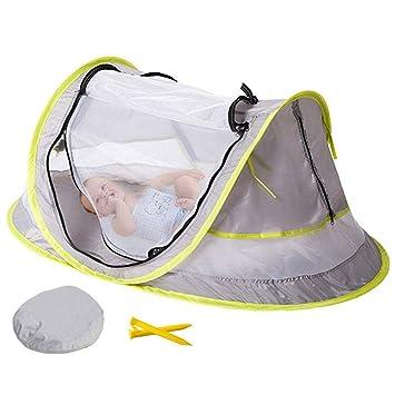 leicht tragbar Volwco Baby Strand Zelt und 2 Heringe Baby Moskitonetz Babybett f/ür Outdoor-Reisen UV-Schutz LSF 50 Pop-Up-Strand//Babyzelt