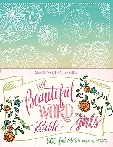 NIV Beautiful Word Bible for Girls, Hardcover, Floral: 500 Full-Color Illustrated Verses by HarperCollins (Image #2)