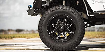 Fuel Jeep Wheels >> Amazon Com 18 Inch Fuel Lethal Black W Milled Accents