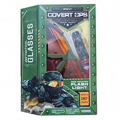 SpyNet Covert Ops Tactical Glasses with Side Mounted Flash Light: Toys & Games