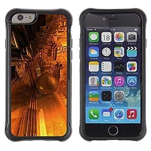 "Pulsar iFace Series Tpu silicona Carcasa Funda Case para Apple (4.7 inches!!!) iPhone 6 , Diseño architectue Futuro de Oro Amarillo"""