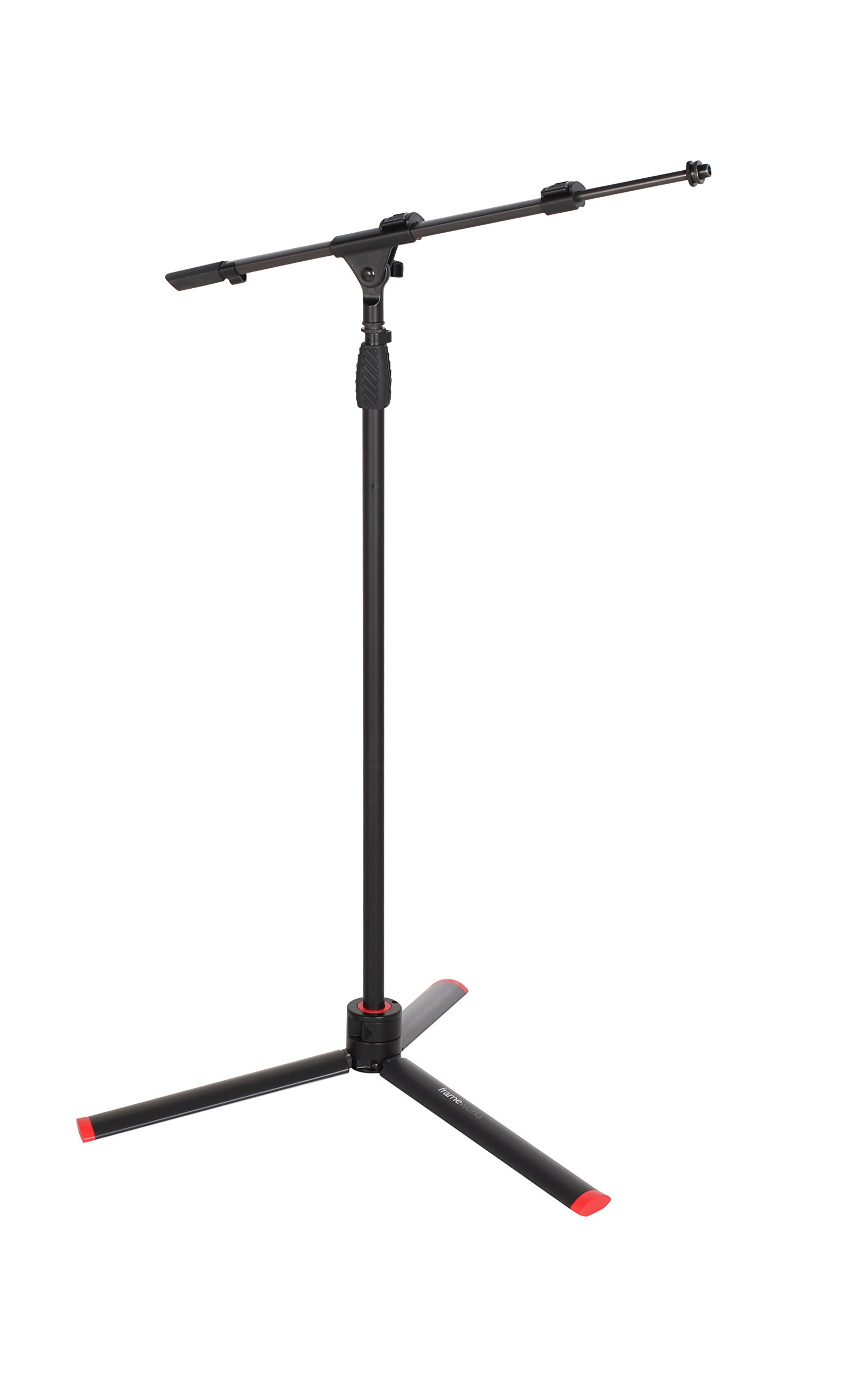 Gator Frameworks ID Series Mic Stand with Easily Adjustable CAM Releases and Boom Arm; (GFW-ID-MIC) by Gator