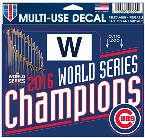 WinCraft Chicago Cubs World Series Champions Multi-Use Decal