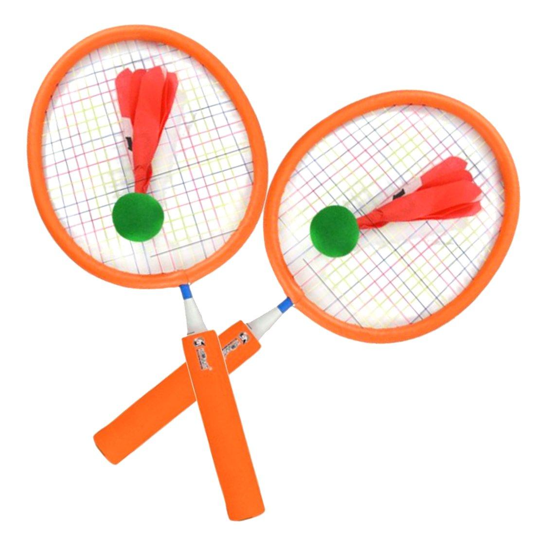 ruiyif Badminton Set for Kids with 2 Badminton Rackets 2birdies S オレンジ O15727B4705WQG S オレンジ B07CNM752D