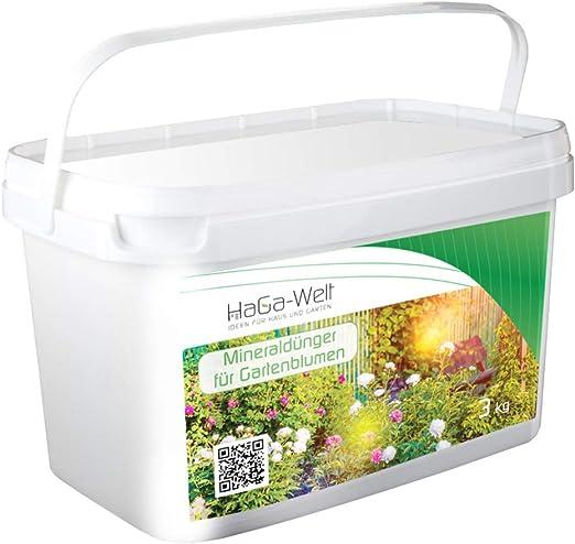 Flores abono Fertilizante Mineral abono Fertilizante Plantas Para Jardín Flores 3 kg: Amazon.es: Jardín