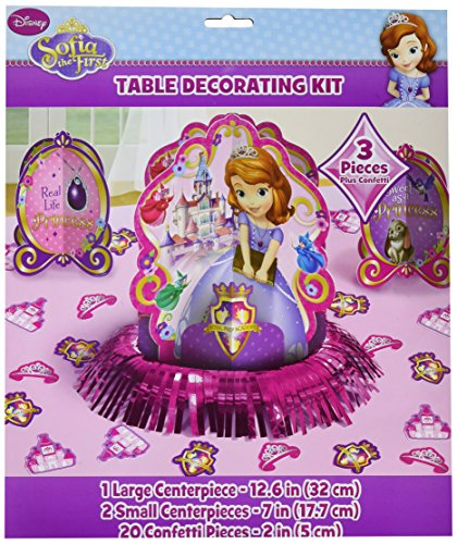 Table Decorating Kit | Disney Sofia The First Collection | Party Accessory | 6 Kits ()