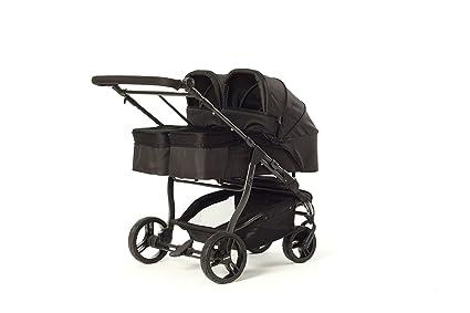 Baby Monsters Silla gemelar EASY TWIN 3.0 + 2 Capazos Color Negro + ...