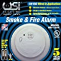Universal Security Instruments 1204 Wire-In Smoke Alarm with Battery Backup (2 Pack)
