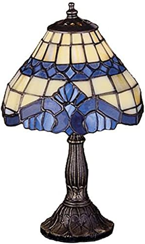 Meyda Home Decorative Baroque Mini Tiffany Lamp with Mahogany Bronze finsh – 7 Wx11.5 H