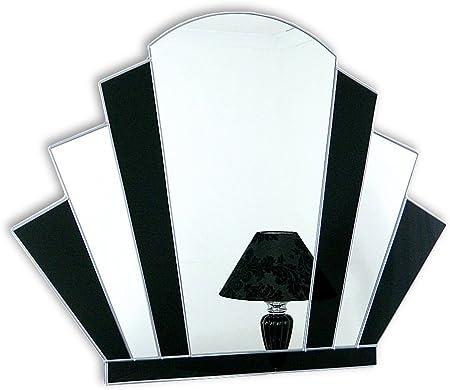 Art Deco Fan Wall Mirror Gatsby Amazon Co Uk Kitchen Home