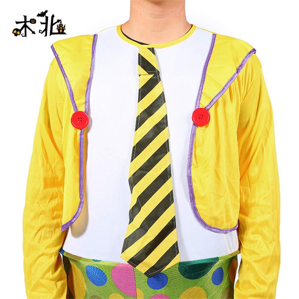 BaronHong Traje de Disfraz de Payaso de Halloween Disfraces de Cosplay Elegantes para una Fiesta