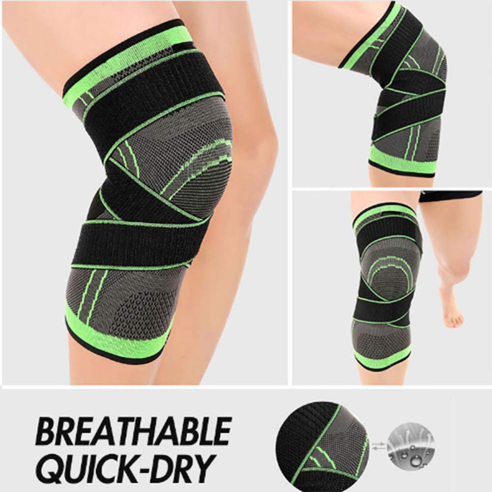 Arthritis and Injury Recovery 1PC 3D Pressurized Fitness Running Knee Support Braces with Side Stabilizers /& Patella Gel Pads for Knee Support for Running Jogging Lala hook Knee Brace Men Women