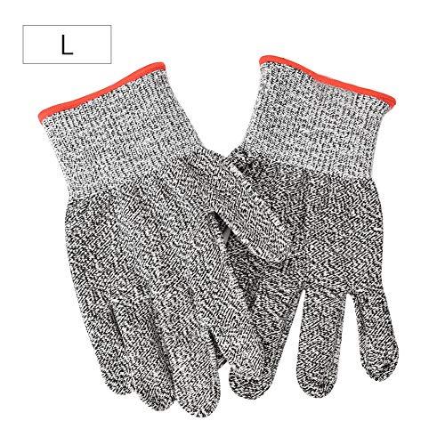 耐カット手袋、4サイズオプションの1ペア食品グレードアンチカット保護作業手袋耐カット耐摩耗作業手袋(L)