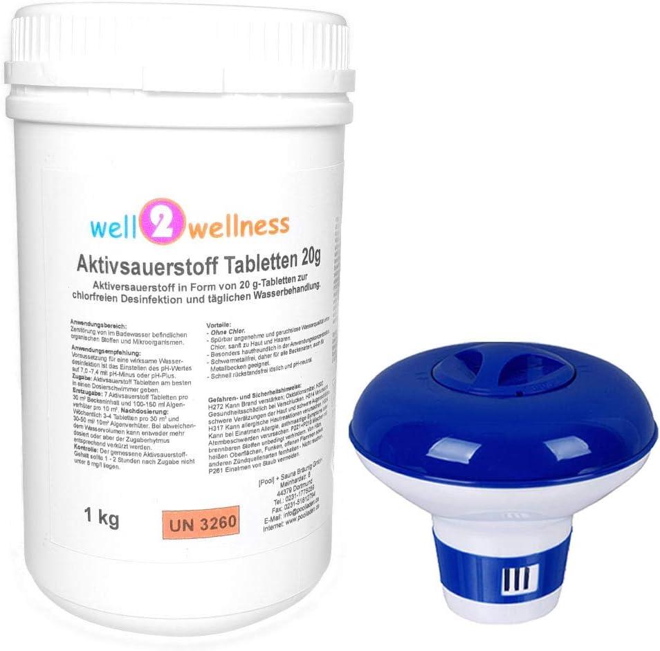 well2wellness Pastillas de oxígeno Activo, 20 g, Pastillas de ...