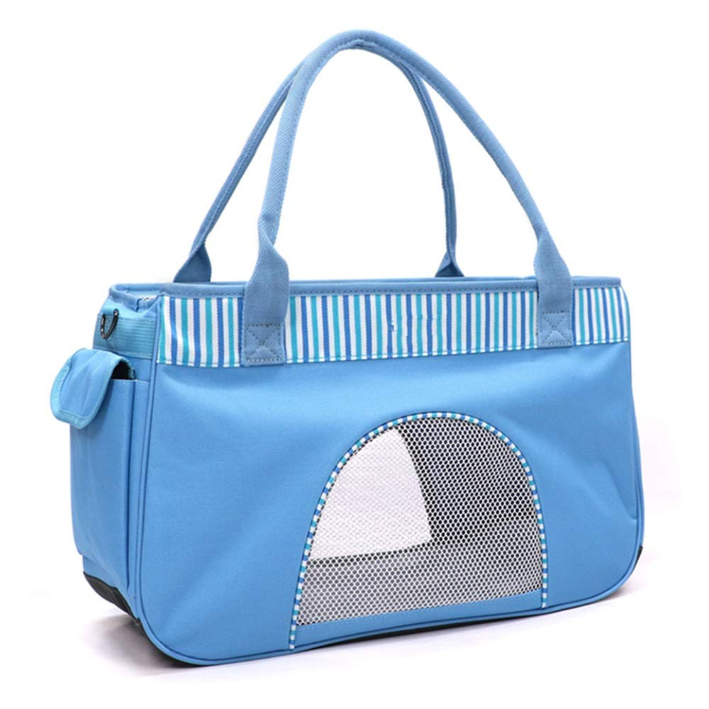 bluee MHU Pet Handbag Oxford Cloth Waterproof And Moisture Proof Satchel Breathable Durable Multicolor Selection (color   Pink, Size   M)