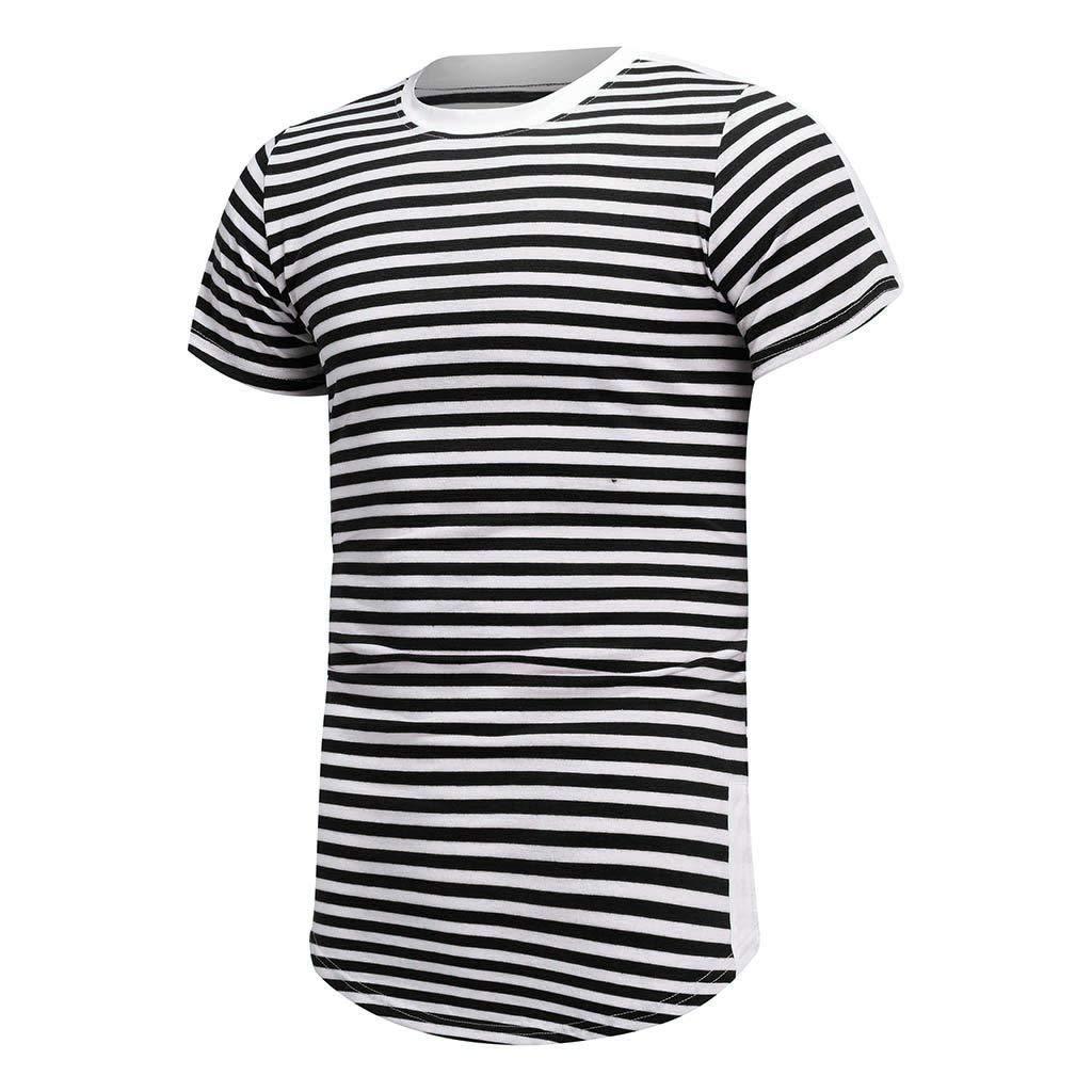 Camisetas Hombre Basicas 2019 Nuevo SHOBDW Rayas Cómodo Camisetas ...