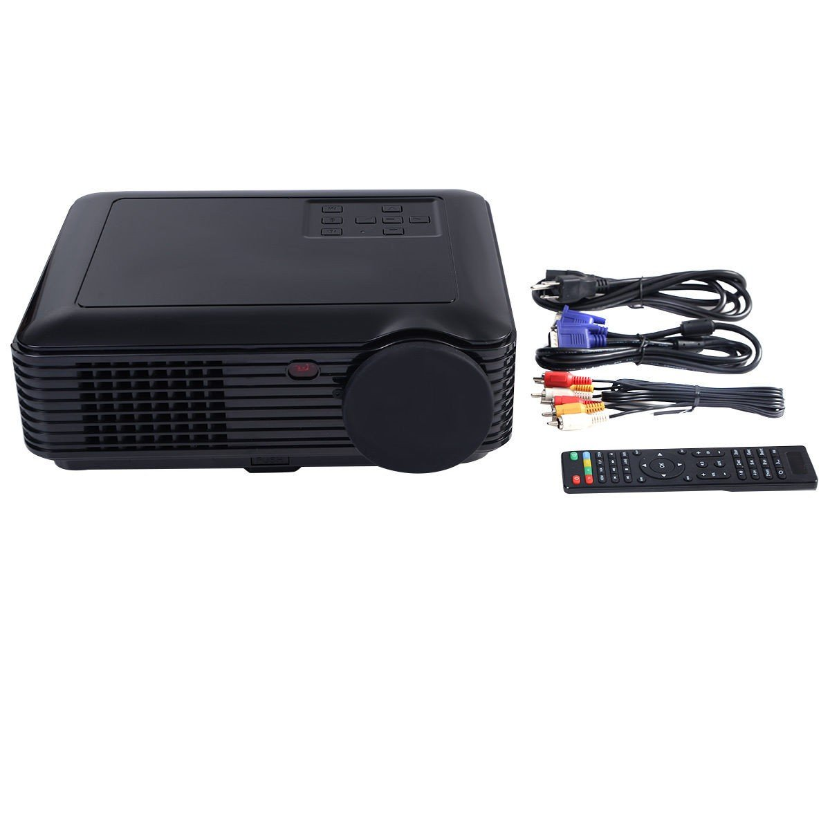 Safstar 2600 Lumens Mini Multimedia Portable Projector LCD LED Video Game Home Cinema Theater Movie Projector