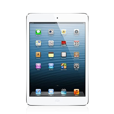 Apple iPad Mini 16GB, LTE - White/Silver (Renewed)