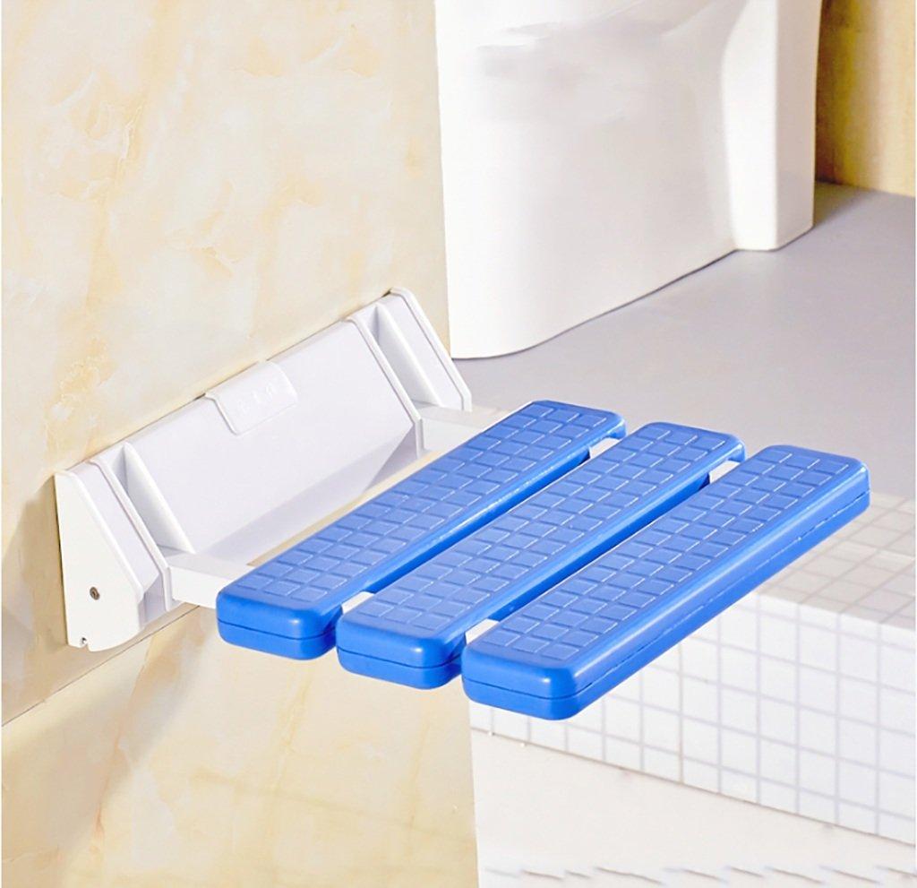 【当店一番人気】 家庭用バスルームスツールシャワースツール壁に取り付けられた折り畳み式チェンジシューズスツール高齢者用 青 (色 青) : 青) B07GGVRMXX 青 B07GGVRMXX, Blue Mermaid:8939ca76 --- efichas.com.br