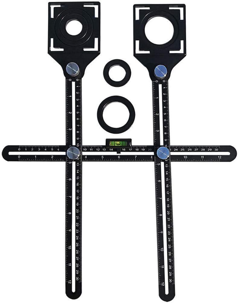 Regla del localizador de azulejos universal Ajustable Azulejo M/ármol Vidrio Cer/ámica Piso Cortador Gu/ía Herramienta de posicionamiento abierto