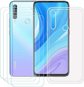 szjckj Funda para Huawei Y9 Prime 2019 + 4 x Protector de Pantalla ...
