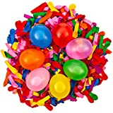 500 pack small multi colored transparent latex water balloons or air balloons 5 inch 6 inch dart balloons Bright biodegradable safe colorful water bomb for kids summer outdoor fun party fight games